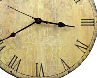 Round Old Style Wall Clock Partial Royalty Free Stock Photography