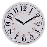 Round old white wall clock Stock Photos