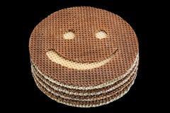 Round opłatek rzeźbiący uśmiech Fotografia Stock