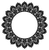 Round openwork lace border. Stock Image