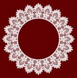 Round openwork lace border. Royalty Free Stock Photo