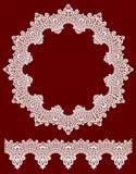 Round openwork lace border. Royalty Free Stock Photos