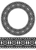 Round openwork lace border. Stock Images