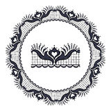 Round openwork lace Royalty Free Stock Photos