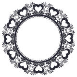 Round openwork lace Stock Images