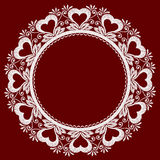 Round openwork lace Royalty Free Stock Photography