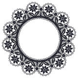 Round openwork lace Stock Photos