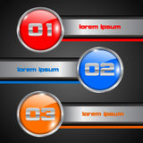 Round Option Banner Stock Images