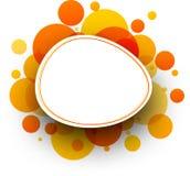 Round orange background. Paper white round background with orange bubbles. Vector illustration Stock Photography