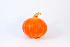 Round Orange cucurbit. One orange, round, colorful and strange cucurbit royalty free stock images