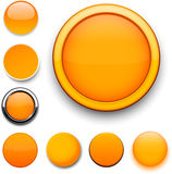 Round orange icons. Stock Photography