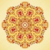 Round orange pattern Royalty Free Stock Photography