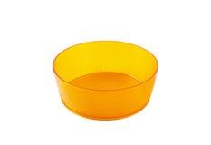 Round orange plastic dish Stock Photo