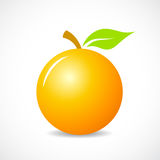 Round orange vector icon Royalty Free Stock Photography