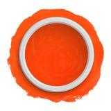 Round orange watercolor banner Stock Photos