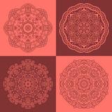 Round orientalni ornamenty Fotografia Stock