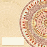 Round ornamend mandala pattern Stock Photography