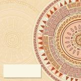 Round ornamend mandala pattern. Invitation, text card  template Stock Photography