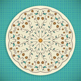 Round Ornament Background Stock Images