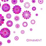 Round Ornament Background Stock Image