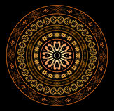 Round ornament for design on black - vector Stock Image