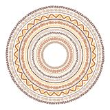 Round ornament design, ethnic style Stock Photography