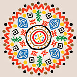 Round ornament with ethnic motifs Royalty Free Stock Images