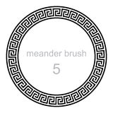 Round ornament meander pattern Royalty Free Stock Photo