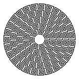 Round ornament meander. royalty free illustration