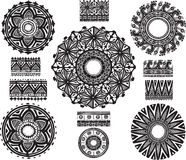 Round Ornament Pattern with  brash Stock Images