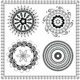 Round Ornament Pattern brush Royalty Free Stock Images