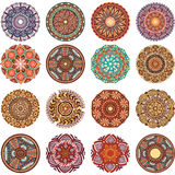 Round Ornament Pattern collection vector illustration
