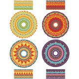 Round Ornament Pattern with pattern brush Royalty Free Stock Image