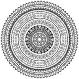 Round Ornament Pattern in Tribal ethnic style Stock Images