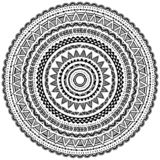 Round Ornament Pattern in Tribal ethnic style Royalty Free Stock Photos