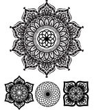 Round Ornament Pattern. Vector Circle Ornament Royalty Free Stock Images