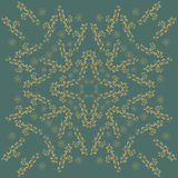 Round Ornament Pattern. Vintage decorative elements.  Beautiful  ornament can be used as a greeting card Royalty Free Stock Images
