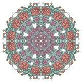 Round Ornament Pattern. Vintage elements. Stock Image