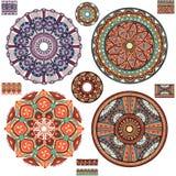 Round Ornament Patterns royalty free illustration