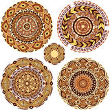 Round Ornament Patterns Royalty Free Stock Photography