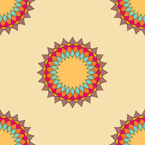 Round ornament seamless pattern, spirograph background Stock Image