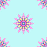 Round ornament seamless pattern, spirograph background. Vector Royalty Free Stock Photography