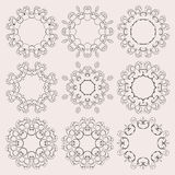 A round ornament set on background Royalty Free Stock Photos