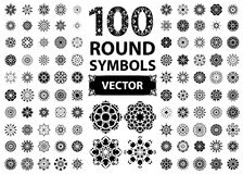 Round Ornament Set Royalty Free Stock Photos