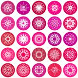 Round Ornament Set Royalty Free Stock Images