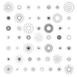 Round ornament set, spirograph Stock Image