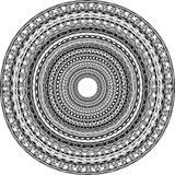 Round ornament with tribal motifs Stock Photos