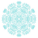 Round ornament vintage floral esoteric mandala. Stock Photo