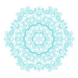 Round ornament vintage floral esoteric mandala. Royalty Free Stock Image