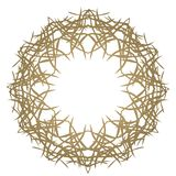 Round Ornament on white Background. Template of Decorative Frame royalty free illustration